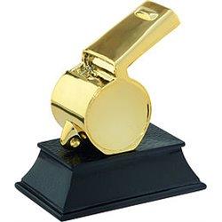 Trofeo Fischietto in resina met. oro art. (TR150)